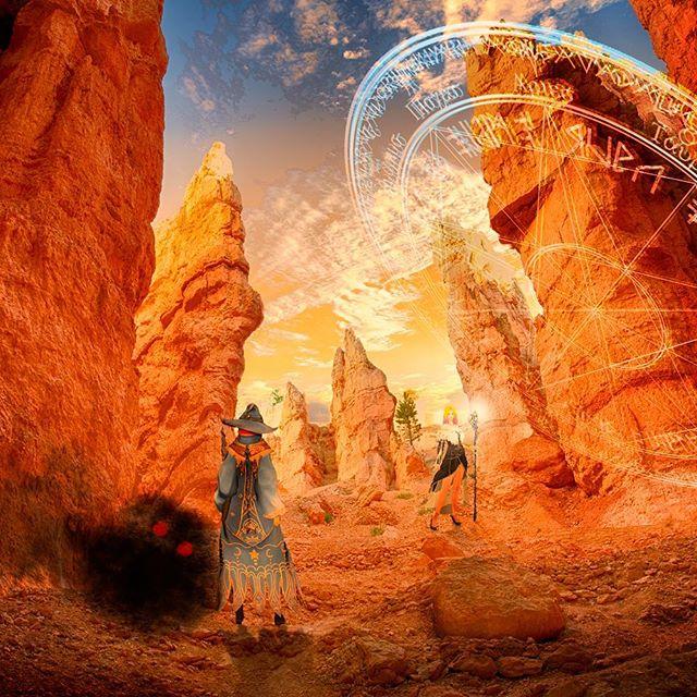 ゲームのキャラ(黒い砂漠)をリアルの世界に配置してみたビジュアル風レタッチ。 - from Instagram
