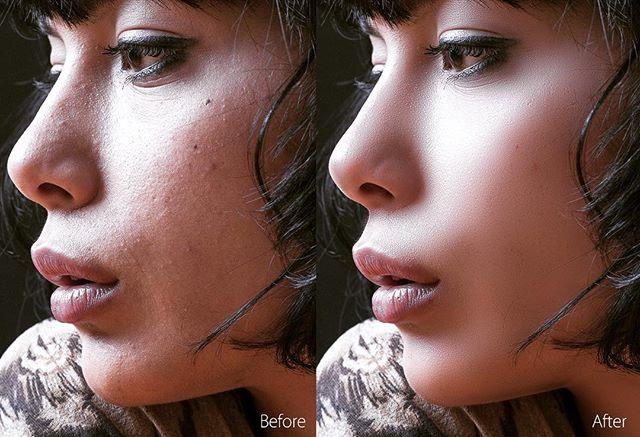 美肌にするレタッチ。肌の質感を残しつつ自然に仕上げる。これマスターするとレタッチの幅が広がる。 - from Instagram