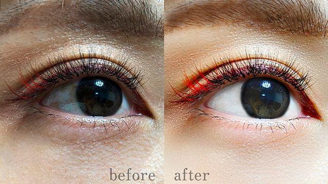 マツエクのアイリストさんからの依頼で、目肌のレタッチ。眉毛も綺麗に整えてます。 - from Instagram