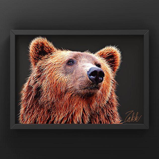 クマの切抜きレタッチ。Vounでモックを仕上げてみた。 - from Instagram